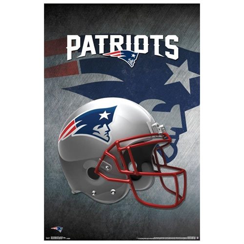 Nfl Wall Art poster – nfl – new england patriots – helmet 16 new wall art 22×34