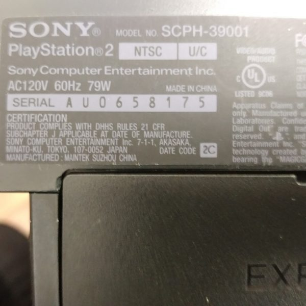 Used Sony SCPH-39001 PS2 with 2 Dualshock 2 Controllers & 8MB Memory Card
