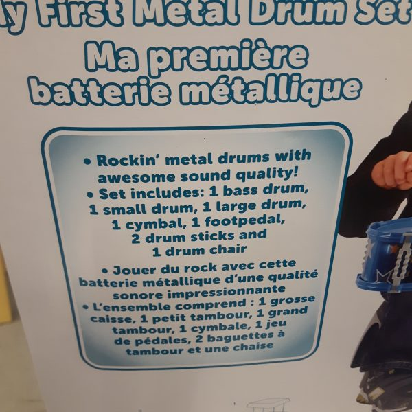 Ob My First Metal Drum Set Missing Two Screws Otherwise Complete 10