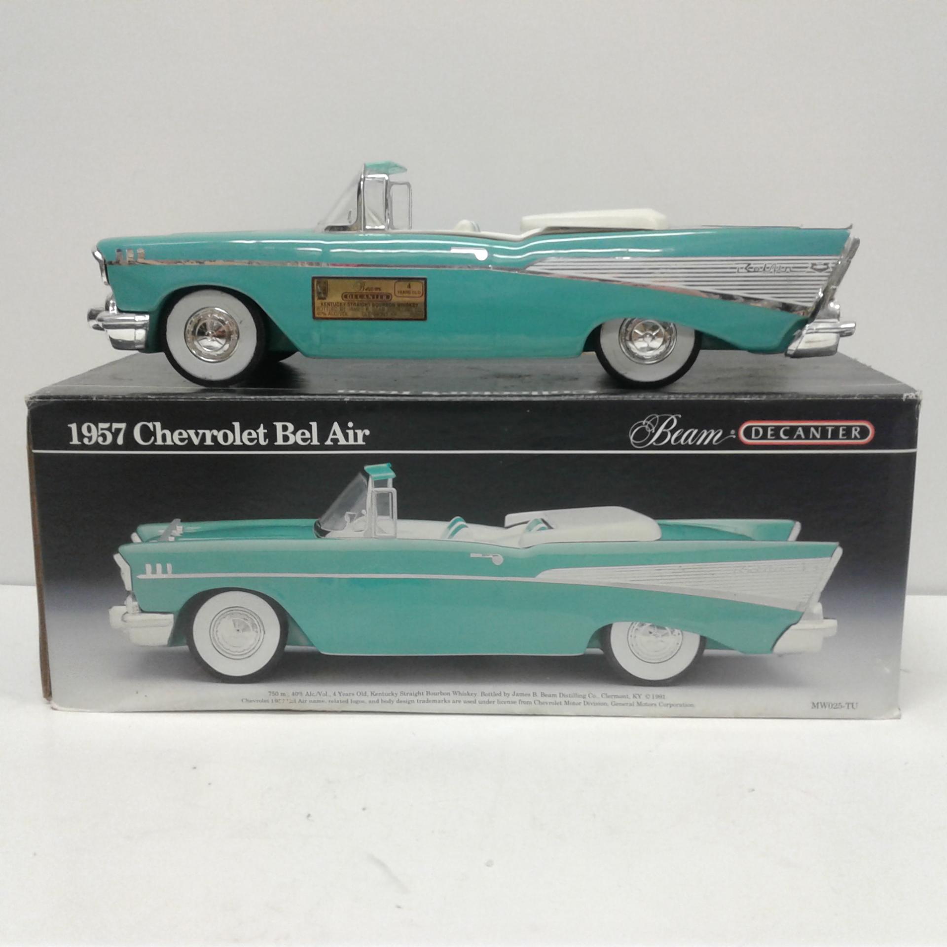 1957 Chevrolet Bel Air Beam Decanter Convertible Ebay Chevy