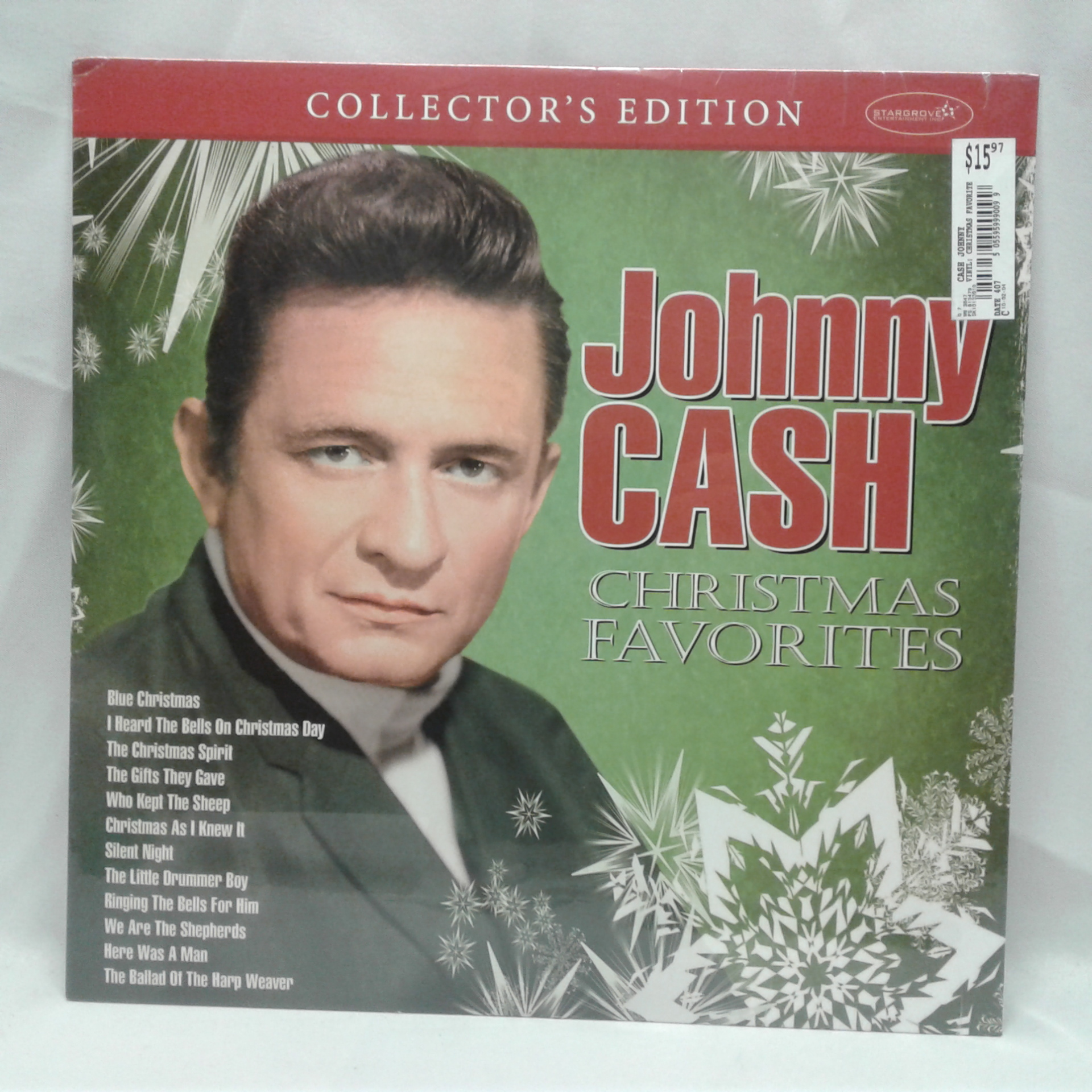 Johnny Cash Christmas Favorties Vinyl Record LP Collector\'s Edition ...