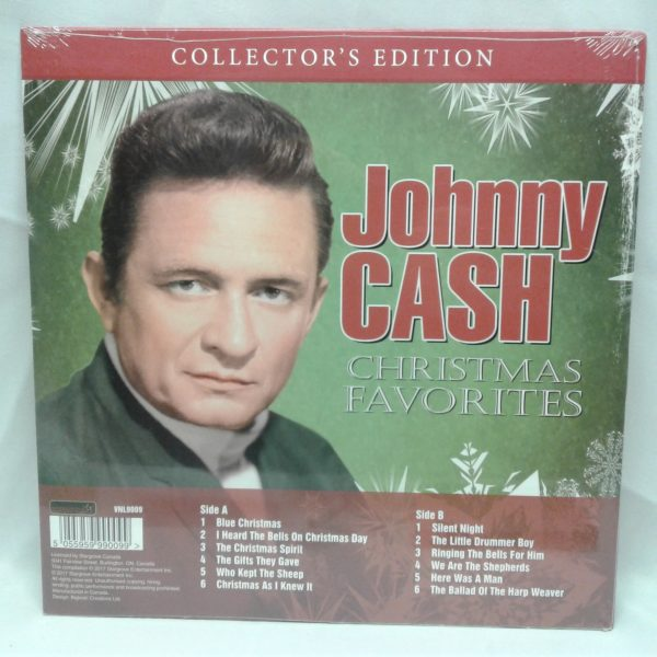 Johnny Cash I Heard The Bells On Christmas Day.Johnny Cash Christmas Favorties Vinyl Record Lp Collector S Edition